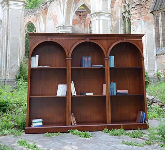Meble do biblioteki domowej, biblioteka na wymiar z drewna